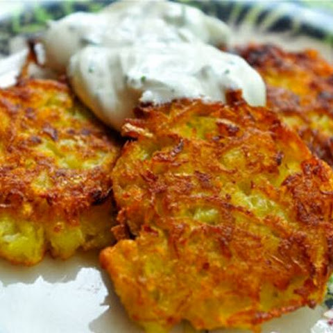Potato Pancakes with Sour Cream Dip for Toddlers