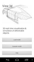 Screenshot of View 3D - Deformable objects