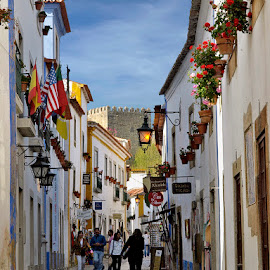 Obidos, Portugal by Khaled Ibrahim - City,  Street & Park  Street Scenes