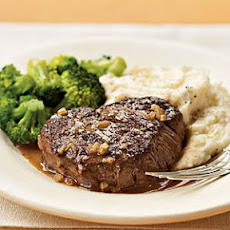Brandy and Mustard-Glazed Tenderloin Steaks
