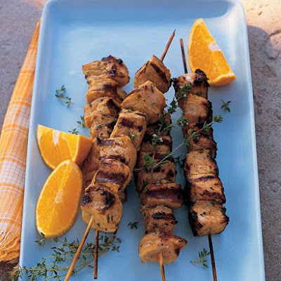 Pork Kebabs with Orange and Thyme