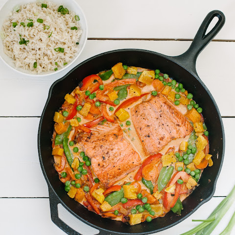 Butternut Squash + Salmon Curry