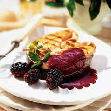 Grilled Salmon with Blackberry-Cabernet Coulis
