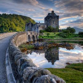 Eilean Donan Castle by Sandy Sutherland - Buildings & Architecture Bridges & Suspended Structures ( castle, scenery, bridge, landscape, eilean )