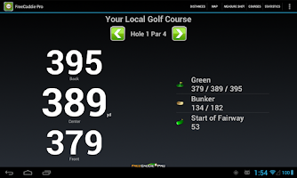 Screenshot of FreeCaddie Pro Golf GPS