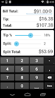 Screenshot of Tip Calculator Pro
