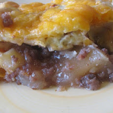 Apple- Sausage- Cheddar Breakfast Bake