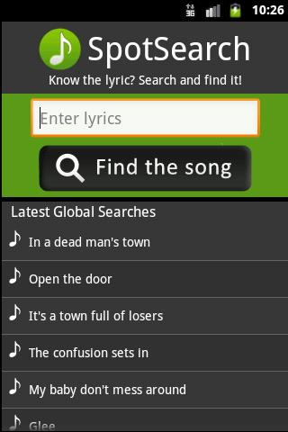 spotsearch-for-spotify-ads for android screenshot