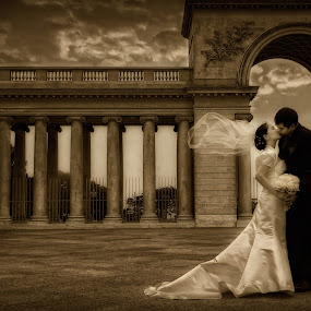 Just a Kiss by Cesar Palima - Wedding Bride & Groom