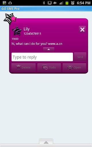 玩個人化App|GO SMS - Zebra Star Fun免費|APP試玩