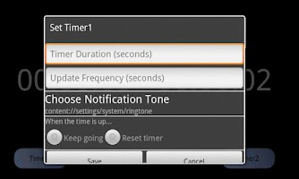 Screenshot of Dual Timer