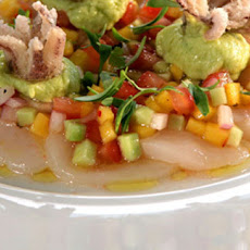 Ceviche Of Scallops With Crispy Fried Squid