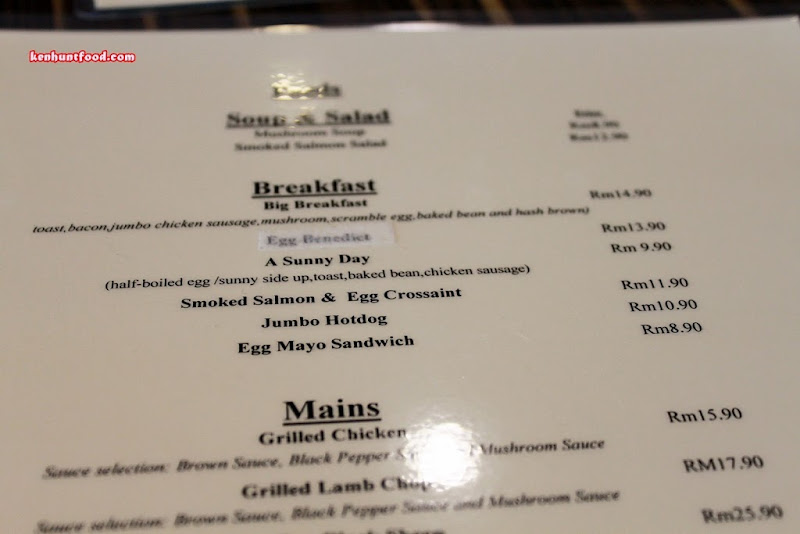 Zinc Cafe Breakfast Menu