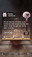 Screenshot of GO SMS PRO DUNK THEME
