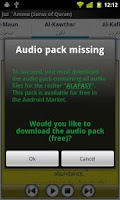 Screenshot of Audio Pack (Mishary Alafasy)