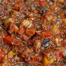 Eggplant-Pepper Tomato Sauce Recipe