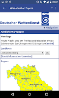 Screenshot of Wetterwarner Pro