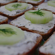 Open Faced Cucumber Sandwiches
