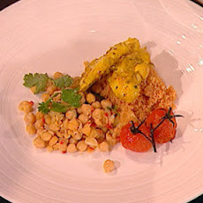 Moroccan Chicken, Harissa-spiced Couscous And Chickpea Salsa