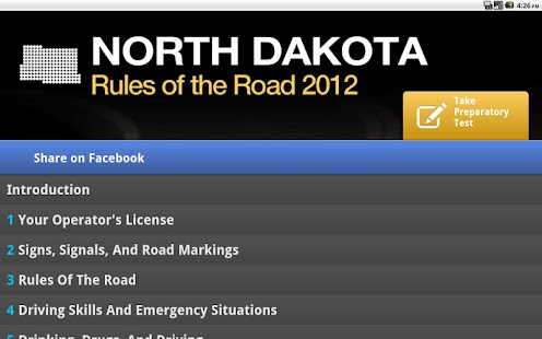 North Dakota Rules of the Road - screenshot