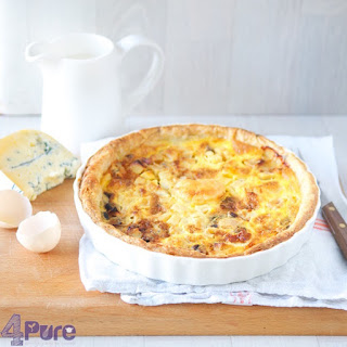 Warm Gorgonzola and Apple Quiche