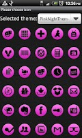 Screenshot of Pink Night GOLauncher EX Theme