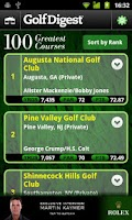 Screenshot of Golf Digest Course Critic