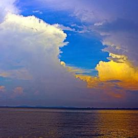 The Sky Above by Julie Ddin - Landscapes Cloud Formations ( sky, sunset, penang, esplanade, gurney drive,  )