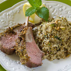Gluten Free Pistachio Mint Crusted Rack of Lamb