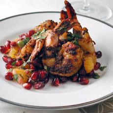 Blackened Shrimp with Pomegranate-Orange Salsa