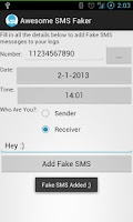 Screenshot of Awesome SMS Faker - Fake Texts