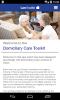 Screenshot of Domiciliary Care Toolkit