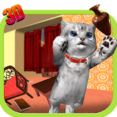 Cute Kitty Cat - 3D Simulator APK for Bluestacks