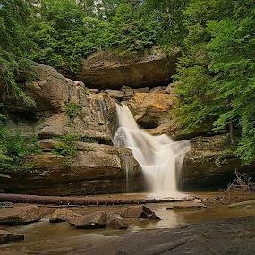 Cedar Falls by Bud Schrader - Landscapes Caves & Formations ( waterfalls, logan ohio, rock formations, hocking hills, cedar falls )