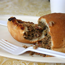 Middle Eastern Arais Bread Stuffed With Spiced Ground Meat