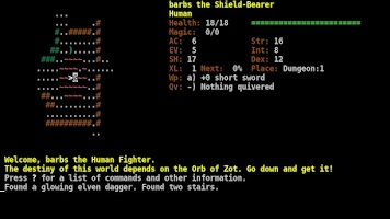 Screenshot of Dungeon Crawl:SS (ASCII)