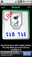 Screenshot of Cam Tag Lite, Speed Cameras