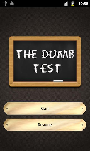 The Dumb Test Moron test