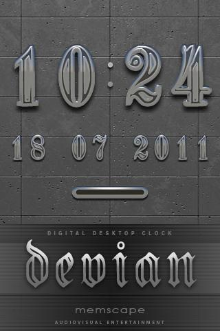 DEVIAN Digital Clock Widget