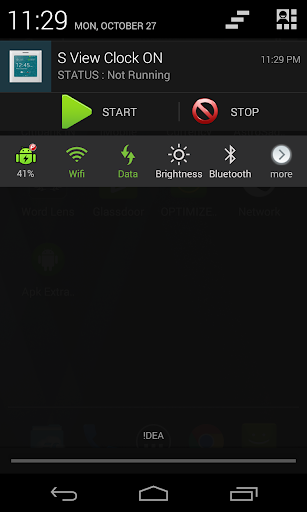 S View Clock ON - screenshot