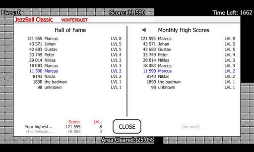 JezzBall Classic - screenshot