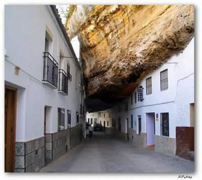 Amazing City Underneath Huge Rocks