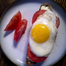 Tomato, Brie and Egg Crostini