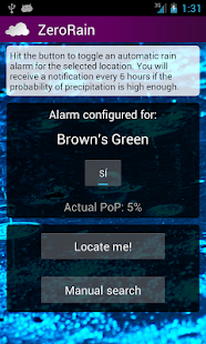 ZeroRain UK (Rain Alarm) - screenshot