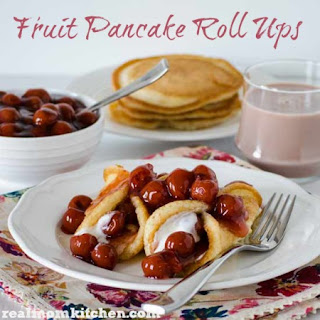 Fruit Pancake Roll Ups