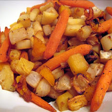 Roasted Winter Root Vegetables With Apple Cider