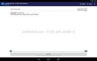 Screenshot of WebSMS