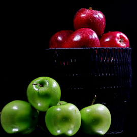 Fruits by Dipali S - Food & Drink Fruits & Vegetables ( juicy, diet, greenred, breakfast, drop, leaf, life, nature, fresh, juice, lifestyle, apples, healthcare, water, isolated, fruit, waterdrop, green, white, delicious, health, product, nutrition, red, food, apple, background, ripe, summer, healthy, freshness, eat, vitamin, garden, natural )