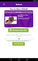 Screenshot of Perfect Gift Sent As Gift Card