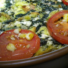 Spinach and Feta Bread Pudding